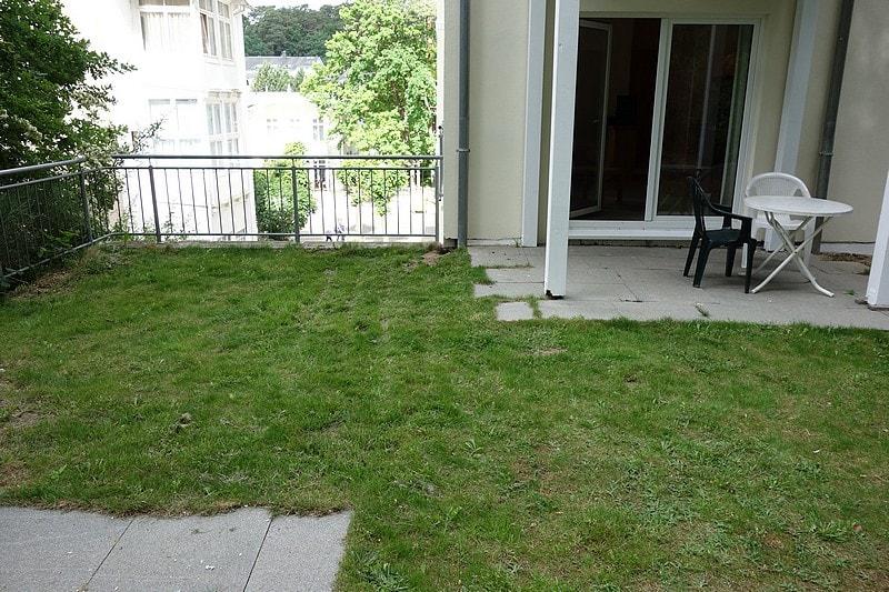Garten Wohnung mit Hund
